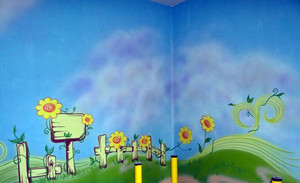 好看又能激发创新力的幼儿园手绘壁画效果图