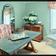 两室一厅欧式果绿色清新书房