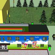 幼儿园背景墙整体外观图