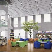大型书店石膏板吊顶