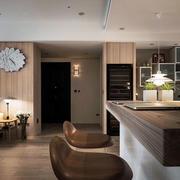 北欧风格别墅木制吧台设计