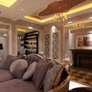 欧式精美客厅吊顶装饰