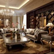 后现代风格深色客厅装修