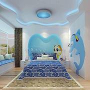 儿童房清新简约风格背景墙