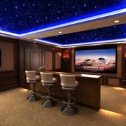 现代风格家庭影院吧台设计