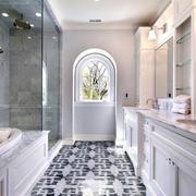 别墅简欧风格大型卫生间设计