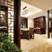 简约风格中式客厅木制屏风