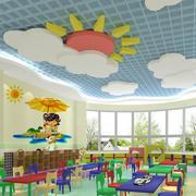 幼儿园教室创意桌椅陈列