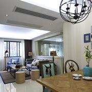 两室一厅简约风格餐厅背景墙