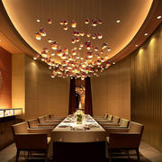 欧式简约风格西餐厅吊顶