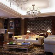 欧式别墅客厅墙饰装饰