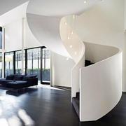 后现代风格简约白色楼梯装饰
