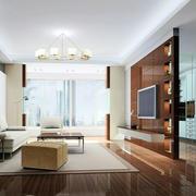 后现代风格室内木地板装饰