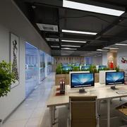 现代简约风格办公室效果图