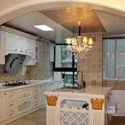 韩式拱形厨房门设计