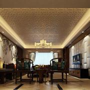 中式奢华石膏板吊顶装饰