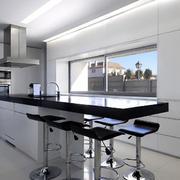欧式时尚风格厨房吧台设计