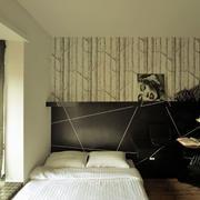 简约风格卧室背景墙装修