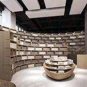 书店整体书柜效果图