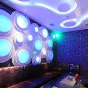 现代简约风格ktv背景墙设计