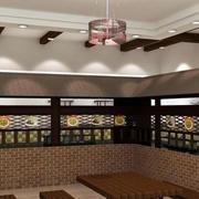 中式古韵铺面吊顶设计
