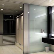 简约风格公厕玻璃隔断装修