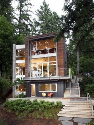 接近大自然的独栋三层别墅装修效果图