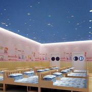 幼儿园休息室背景墙装饰