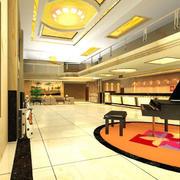 大型酒店前台装饰设计
