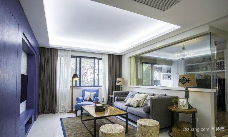 90平米浪漫北欧风格新房两室一厅装修效果图