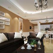 简约风格客厅照片墙装饰