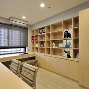 整体家装原木书柜装修