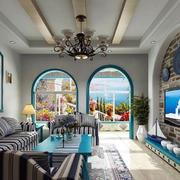 地中海风格石膏板吊顶设计