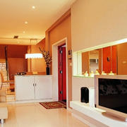 温馨暖色系别墅客厅效果图