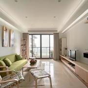 120平米房屋客厅落地窗装饰
