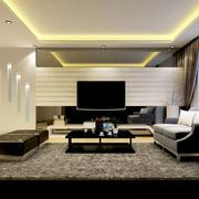 现代简约风格客厅地板效果图