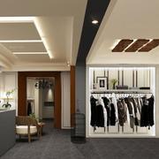 现代简约风格服装店吧台设计