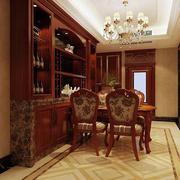 欧式原木餐厅桌椅装饰