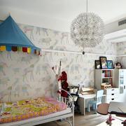 别墅一体式儿童房灯饰设计