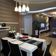 后现代风格客厅餐桌装修