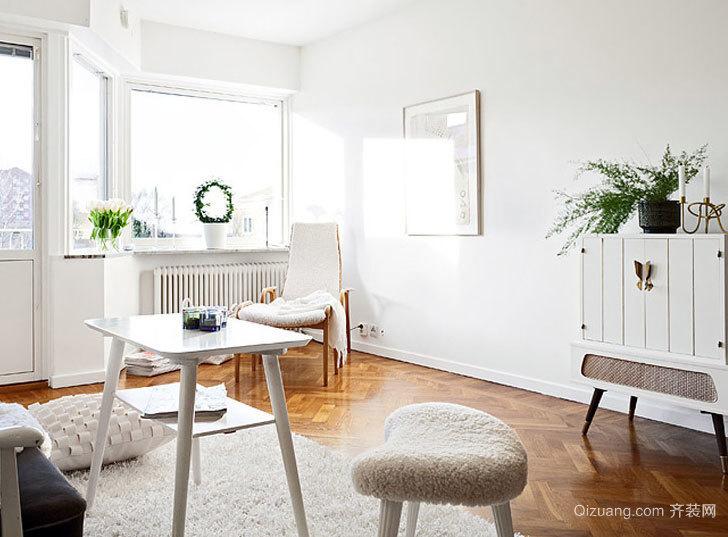 55平米紧凑型北欧风格小户型公寓装修效果图