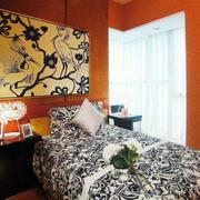 东南亚风格卧室印花背景墙