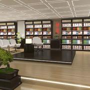大型书店简约风格密集型吊顶