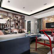 中式客厅现代简约风格吊顶