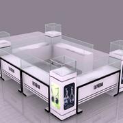 后现代风格3D图样展示柜