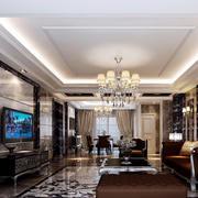120平米后现代风格客厅设计