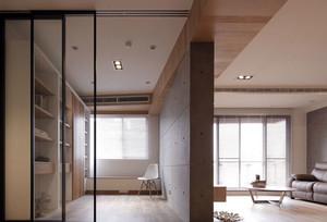 与自然零距离:北欧简约原木色风格客厅装修效果图