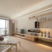 120平米房屋客厅电视柜设计