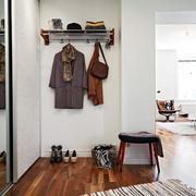 单身公寓简约风格客厅衣帽架设计