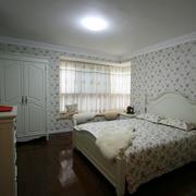 田园风格卧室简约壁纸设计